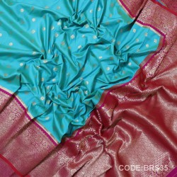 Banarasi Kathan Silk Saree with Paithani Border-BRS35