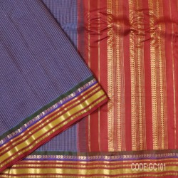 Gadwal pure cotton saree with Small Cheks-GC101