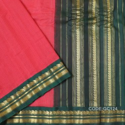 Gadwal pure cotton saree Pure Handwoven-GC124