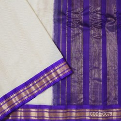 Gadwal pure cotton saree with Small Cheks-GC79
