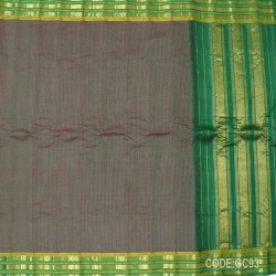 Gadwal pure cotton saree with Small Cheks-GC93