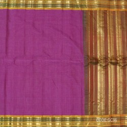 Gadwal pure cotton saree with Small Cheks-GC96