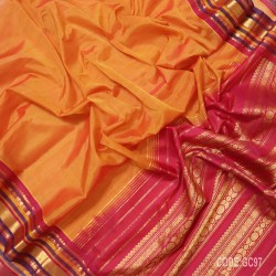 Gadwal pure cotton saree with Small Cheks-GC97