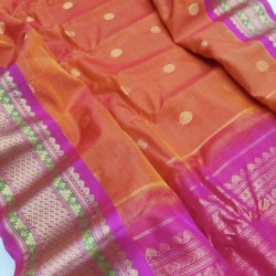 Gadwal Pure Sico with Silk Blouse GS306