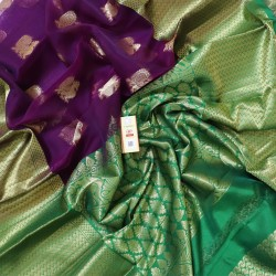 Latest Oraganza Saree With Broad Borders-ORK011