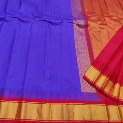 Gadwal Pure silk Small Temple border with Checks  GPS871