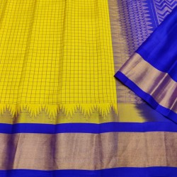 Gadwal Pure silk Small Temple border with Checks  GPS872