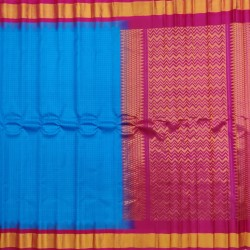 Gadwal Pure silk Small Temple border with Checks  GPS874