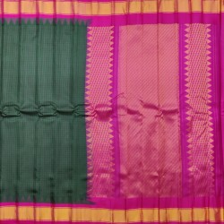 Gadwal Pure silk Small Temple border with Checks  GPS875
