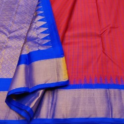 Gadwal Pure silk Small Temple border with Checks  GPS862