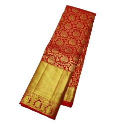 Kanchi Pure Silk Red Saree Marriage special  - KMP1054
