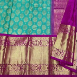 Kanchi Pure Silk Saree Special Combination with 8 inches Long Border - KMP1062