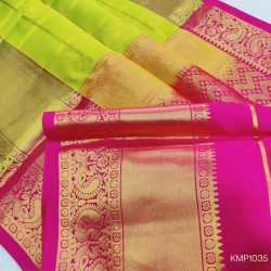 Kanchi pure Pattu Handloom checks saree with butta - KMP1035
