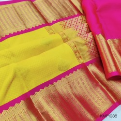 Kanchi pure Pattu Handloom saree big moftis - KMP1038