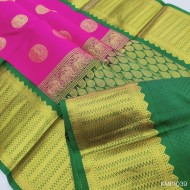 Kanchi pure Pattu Handloom saree big moftis - KMP1039