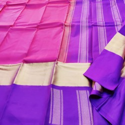 Pure SIlk Saree Plain - LSS102