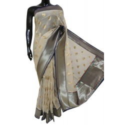 Georgette Designer Saree With Paithani Border