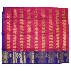 Kanchi Pattu Long Border Pawada Beautiful Full Motifs