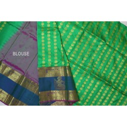 Kanchi pattu Lehanga Full Motifs Long Border