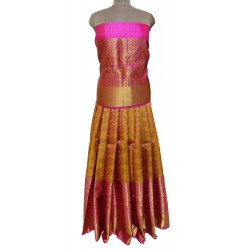 Kanchi Pattu Lehenga  full Brocket Long Border
