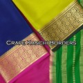 Crape Silk Plain Kanchi Border
